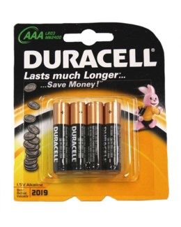 Duracell AAA - 4 Pack