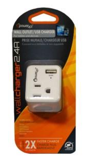 USB Charger 2.4 Amp W/AC Port