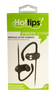 Wireless Sport Earbuds with Comfort Ear Hooks