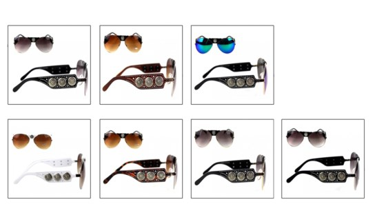 Gauge Concho Collection Aviator Sunglasses