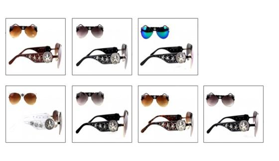 Concho Collection Aviator Sunglasses