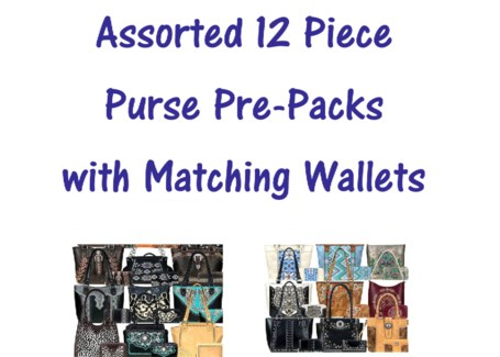 Pre-Pack Purses & Wallets - AB-034