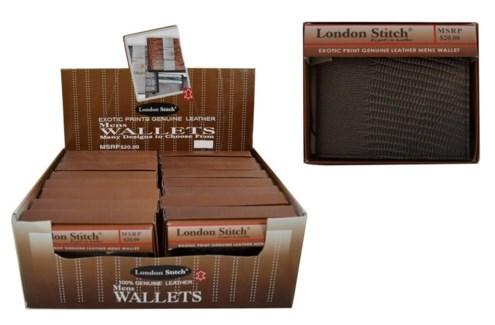 Men's Exotic Print Leather Wallet