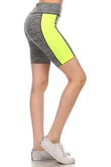 Active Wear Shorts - Yellow
