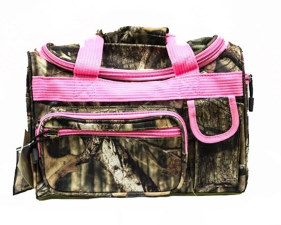Pink Mossy Oak Duffel Bag