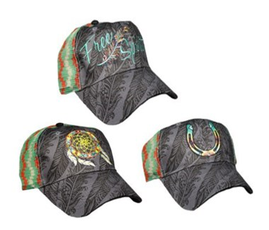 Cowgirl Feathers Assortment Caps