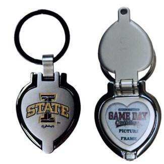 Iowa State Heart Locket Keychain