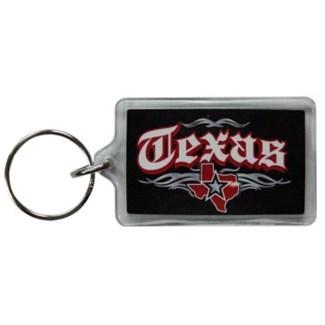 Texas Rock N Roll Keychain