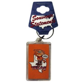 Texas Garfield Keychain