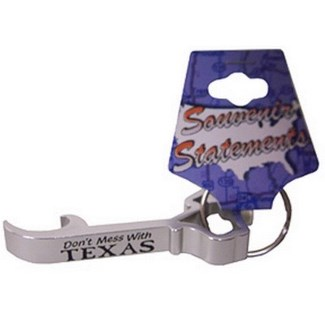 Texas Metal Bottle Opener Keychain