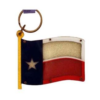 Texas Sand Filled Flag Keychain