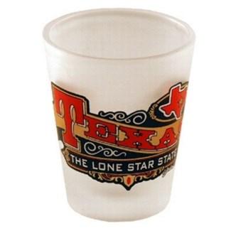 Texas Frosted Bannder Shotglass