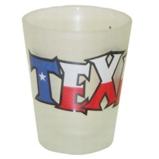 Texas Frosted Flag Shotglass