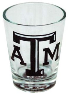 TX A&M Bullseye Shotglass