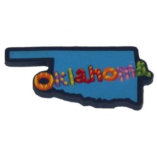 Oklahoma Candy Stripe Magnet