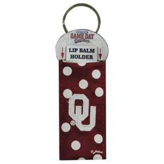 OU Lip Balm Holder Keychain