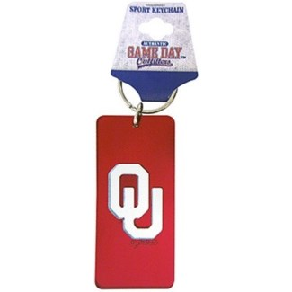 OU Mirrored Keychain