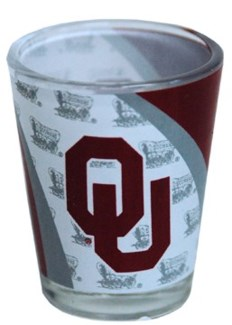 Oklahoma Sooners Wrapped 12DP Shotglass