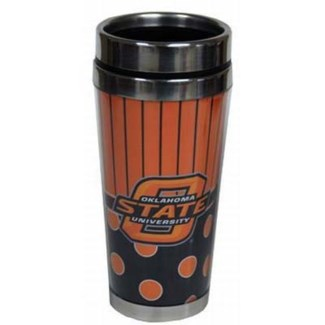 OSU Polka Dot Travel Mug
