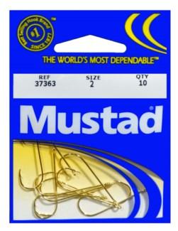 Mustad #2 Gold Hook