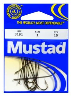 Mustad #1 Brown Hook