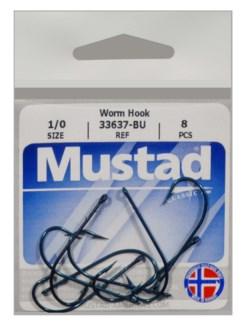 Mustad 1/0 Worm Hook