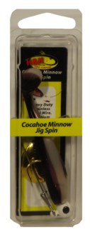 Cocahoe Minnow Jig Spin - Black & Pearl