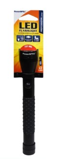 4 LED Flashlight Black