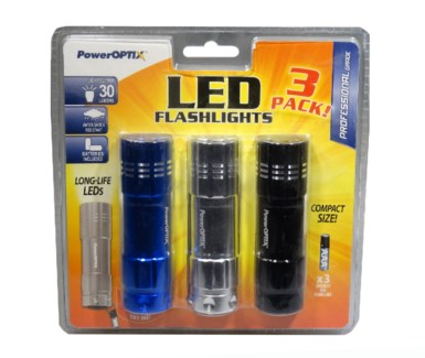 9 LED Flashlight (3 pk.)