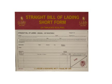 Padded Bill Of Lading Straight Form