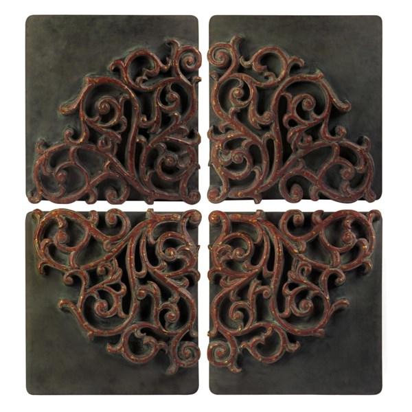 Divided Medallion Wall Art - Set Of 4 - Wall Decor Sale - IMAX ...