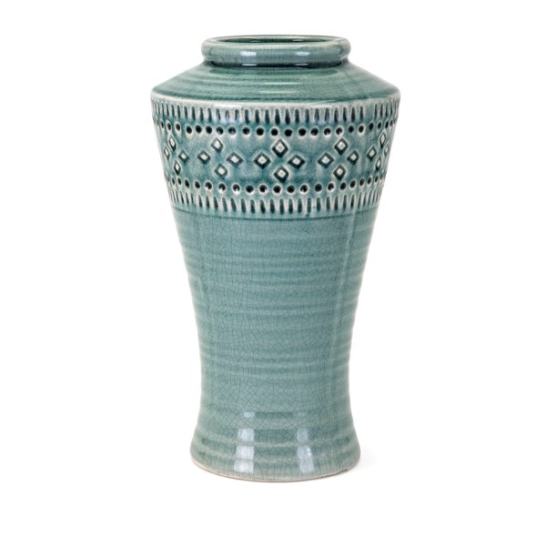 Luna Large Ceramic Vase Vases Imax Worldwide Home