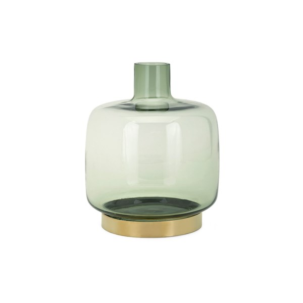 Sage Small Glass And Metal Vase Vases Imax Worldwide Home