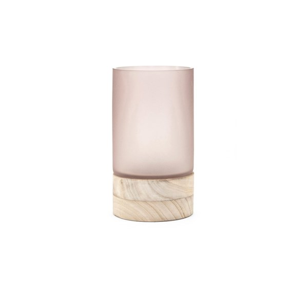 Crystine Short Glass And Wood Vase New Summer 2018 Imax