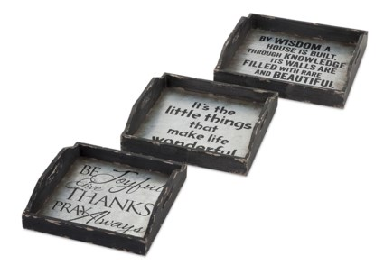 Ella Elaine Metal Trays - Set of 3