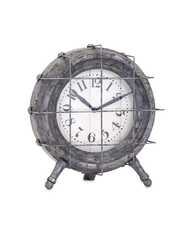 Ella Elaine Metal Table Clock