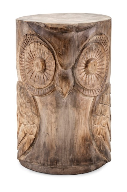 Wooden Owl Stool