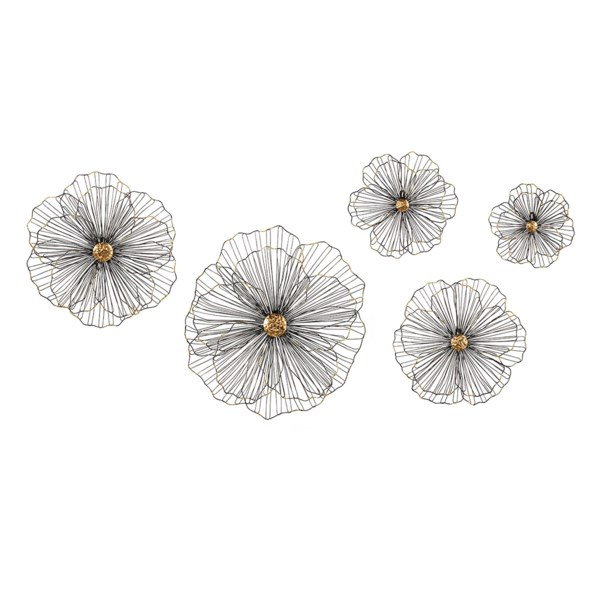 TY Wire Hibiscus Wall Decor - Set Of 5 - New Gallery - IMAX ...