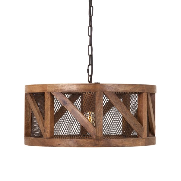 Kennedy Wood And Wire Pendant Light - Pendants - IMAX Worldwide Home