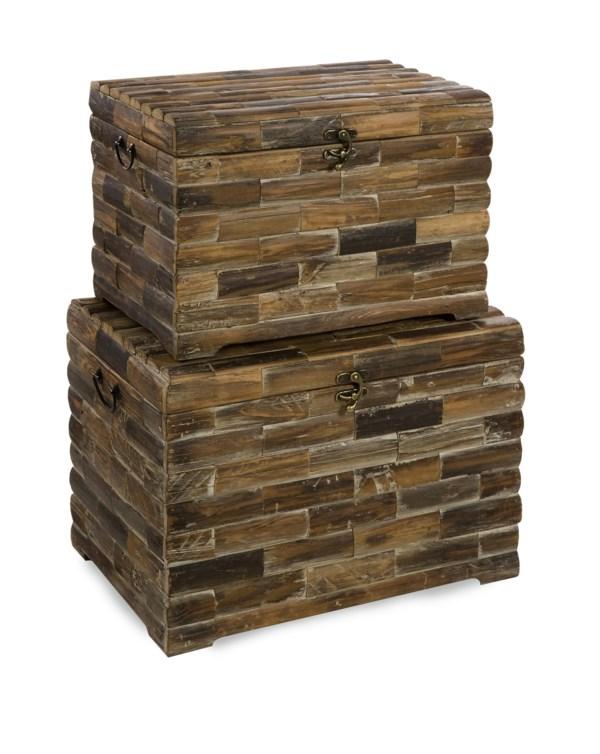 Moreton Wood Chests - Set of 2