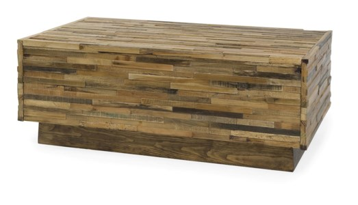 Caledonia 2-Drawer Reclaimed Pine Wood Coffee Table
