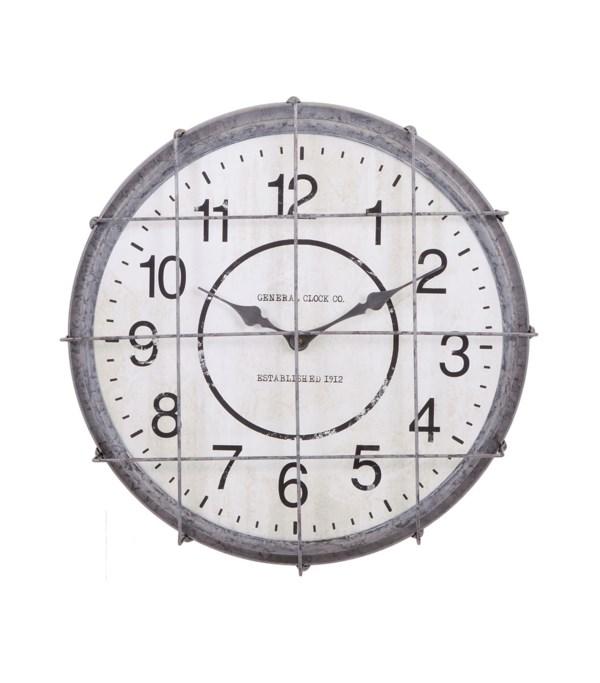 Ella Elaine Postal Cage Clock