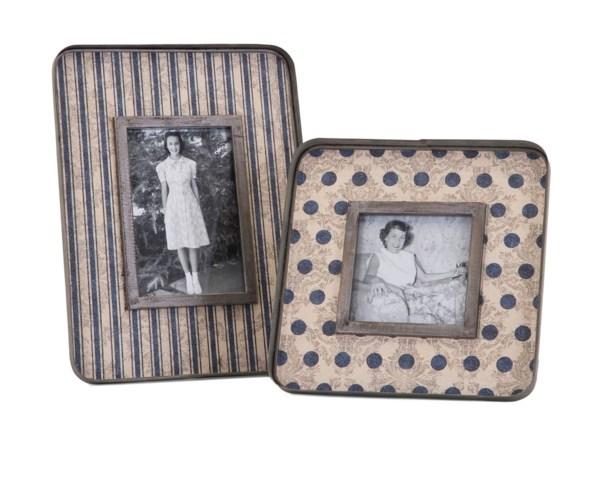 Ella Elaine Galvanized Photo Frames - Set of 2