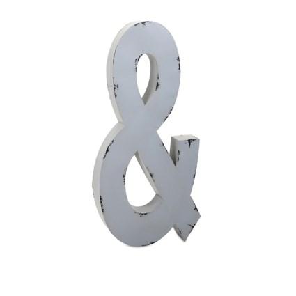 Ella Elaine Oversized Metal Letter Ampersand