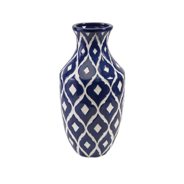 Maine Tall Blue And White Vase Vases Imax Worldwide Home