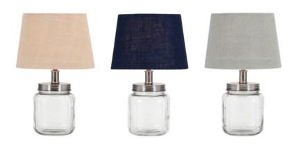 Ella Elaine Fillable Glass Jar Lamps - Ast 3