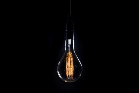Oversize Vintage Bulb with 10ft Fabric Wire Cord Light