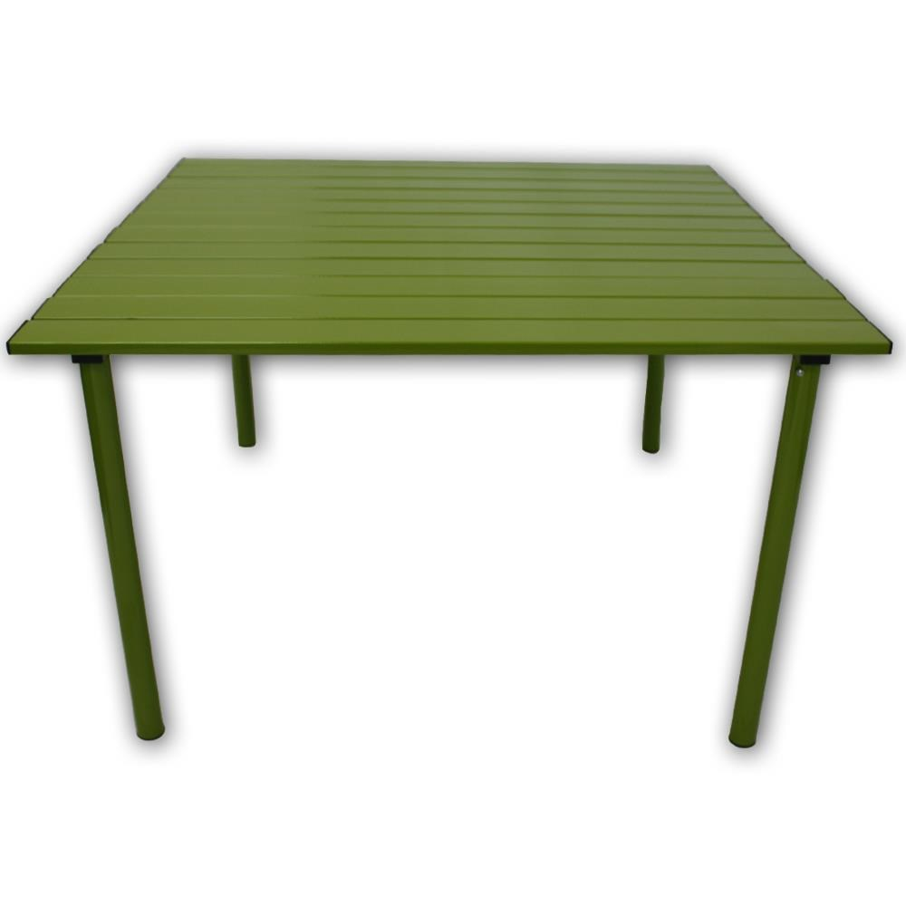 table in a bag. a2716g. green aluminum table in a bag