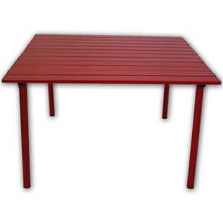 Red Low Aluminum Table in a Bag