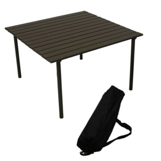 Brown Low Aluminum Table in a Bag